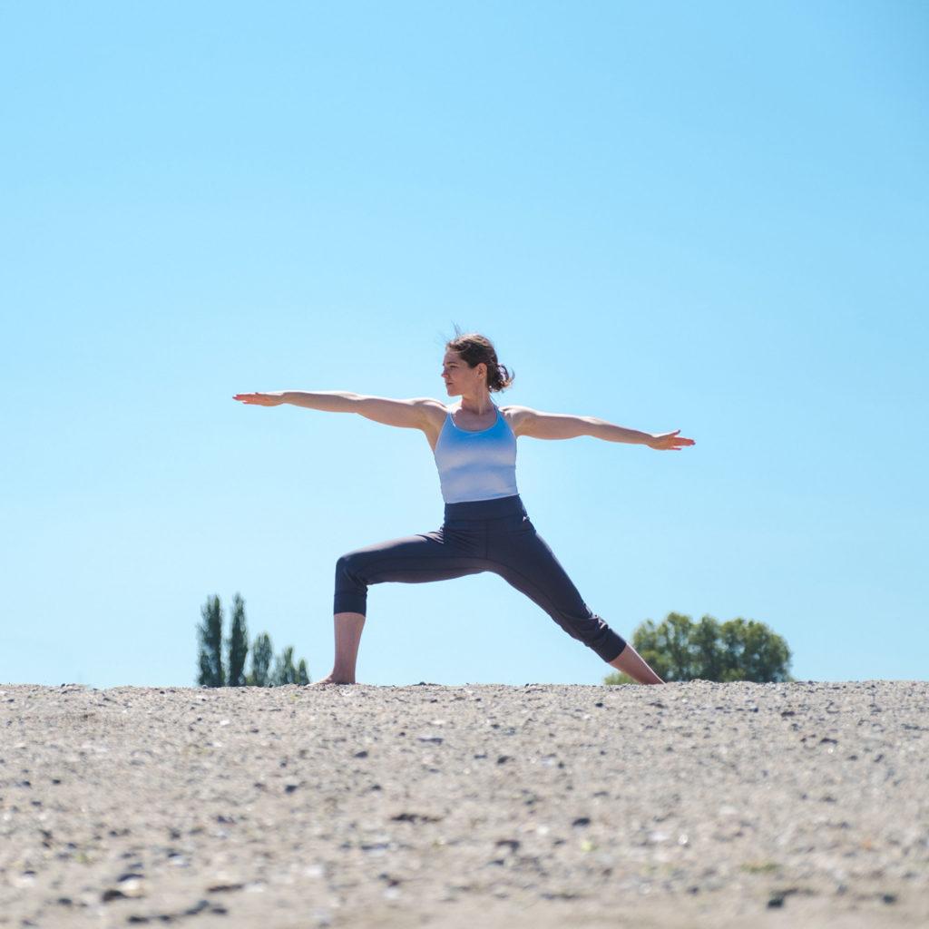 Nikki Warrior 2 yoga pose
