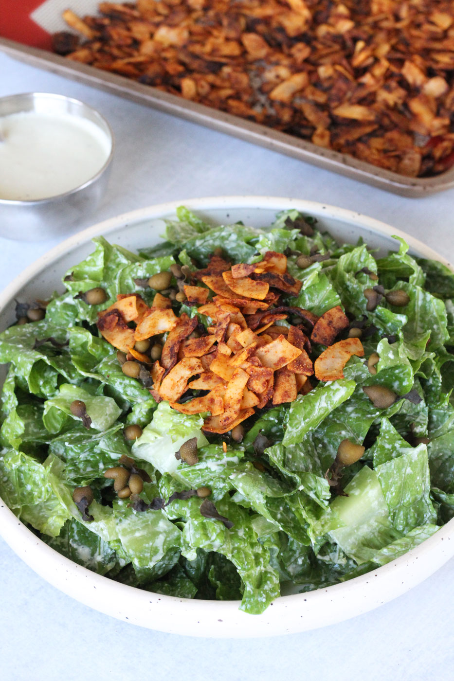 Raw Plant-Based Caesar Salad Recipe